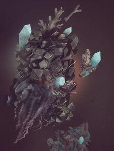 Warm stone by Tatiana Kazakova, via Behance