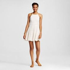 Halter Neck Skater Dress Cream XXL - Mossimo Supply Co. : Target
