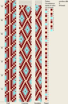 8 around bead crochet rope pattern