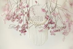 Wonderful Props - Lace and Rosy Dream Catcher  - Digital Backdrop - Photo Prop for Newborn Photography