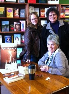 Sharon Hopkins signing her new book, Killerwatt!