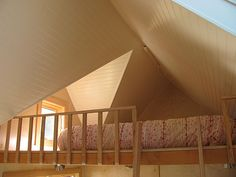 Safety railing on guest bedroom Sleeping Loft, Ravenna, Cabin Fever, Cribs, Stairs, Loft Ideas, Ladders, Railings, Lofts