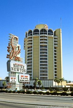 Las Vegas: The Sands Hotel.  No longer there but the home of Wayne Newton for many years. Saw him there in his hey day on my first trip to Vegas~