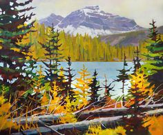"'Larch on Larix Lake' 0"" x 36"" Acrylic on Canvas by Randy Hayashi"