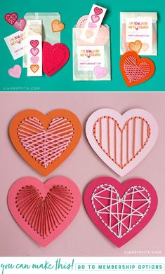 Heart Lacing Card Valentine Craft Kit - Lia Griffith - - Give the gift of crafting this Galentine's Day! Today we're showing you how to create this heart lacing card Valentine craft kit for your favorite gal pals. Valentine's Day Crafts For Kids, Valentine Crafts For Kids, Valentines Day Decorations, Valentines Diy, Holiday Crafts, Happy Valentines Day Card, Craft Kits For Kids, Kids Diy, Diy Niños Manualidades