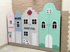 Купить Голландские домики-шкафчики - белый, кукольный дом, кукольный домик, кукольная мебель