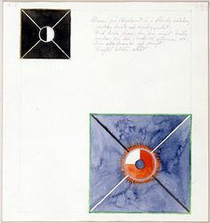 Hilma af Klint - Atom Series, No. Atom on the ether plane is in constant change between rest and activity. At the rest it pulls itself inwards. This affects the earthly atom as giving of force. Arthur Dove, Yves Klein, Robert Rauschenberg, Piet Mondrian, Helen Frankenthaler, Wassily Kandinsky, Hilma Af Klint, Illustration Botanique, Digital Museum