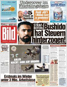 #20160203 #Germany #DeutschZEITUNGenHEUTE #Bild Mittwoch 3 FEB 2016 http://en.kiosko.net/de/2016-02-03/np/bild.html
