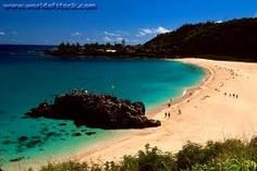 Waimea Bay, North Shore Oahu. Jumping of the rock!