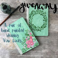 wedding vow books #Lotusblubookartgiveaway