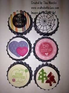 Bottle Cap Magnets- very cool -Crafted with Class