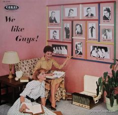 """Coral Records. """"We like guys""""  Vinyl Record Album Cover"""