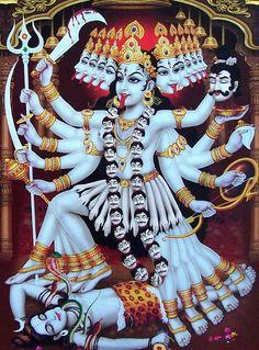 Jai maha Kali -The Mother- Indian Goddess Kali, Durga Goddess, Indian Gods, Jay Maa Kali, Kali Mata, Kali Hindu, Hindu Art, Kali Picture, Maa Kali Images