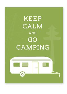 Keep calm and go camping on Etsy, $14.21