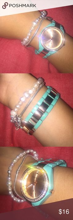 Aero watch Very cute! Works, with self adjustable links. Please make an offer, price negotiable. Aeropostale Jewelry Bracelets