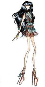 Pocahontas Fashion Girl Illustration #drawing #sketch #design