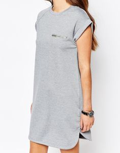 Изображение 3 из Трикотажное платье с карманом на молнии New Look