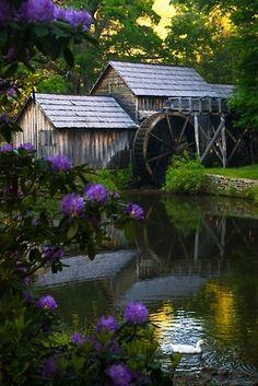 Daydreaming.....Maybry Mill Taken By Jim McKinley - Meadows Of Dan, Virginia On The Blue Ridge Parkway