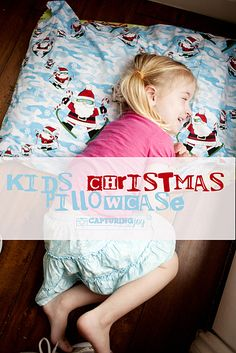 Kids Christmas Pillowcase Tradition - create a special Christmas pillowcase used during the Christmas season then stored away again until next year | KristenDuke.com
