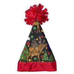 Fun Christmas Abstract Art Santa Hat #Christmas #Santahat #abstract #art #reindeer And www.zazzle.com/inspirationrocks*