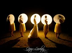 Wedding photos taken at night.  Night shoot by wedding photographer Greg Lumley.