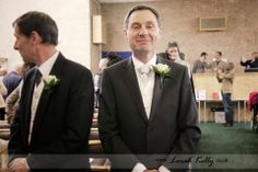 David and Maggie's English Wedding Photography Story - the groom waiting for his bride! Photography by Lorah Kelly | www.lorahkelly.co.uk