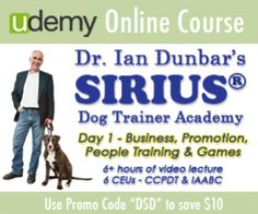 Dr Ian Dunbar S Sirius Dog Trainer Academy On Udemy Com Save 10