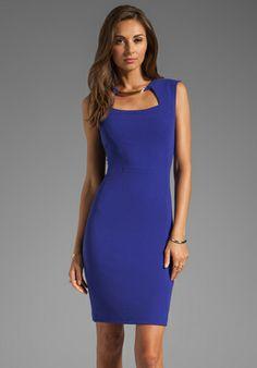 BCBGMAXAZRIA Sleeveless Dress in Dark Regal Blue at Revolve Clothing - Free Shipping!