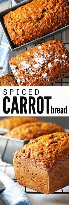 Spiced Carrot Bread With Vanilla Chips