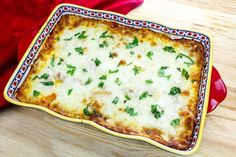You'll love this eggplant parmesan recipe that bakes with a bread crumb crust before it's layered with San Marzano tomatoes and cheese. Get the recipe! Tomato And Cheese, Eggplant Parmesan, Sprout Recipes, Healthy Menu, Eggplant Recipes, Glass Baking Dish, Veggie Dishes, Side Dishes, Italian Recipes