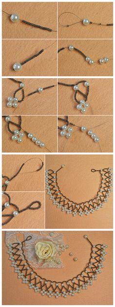 Learn from how to Jewelry Knots, Bead Jewellery, Wire Jewelry, Jewelry Crafts, Beaded Necklace Patterns, Beaded Jewelry Designs, Handmade Jewelry, Beaded Bracelets, Jewelry Making Tutorials