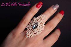 Elegante encaje de bolillos de encaje anillo por LeAlidellaFantasia