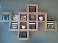 Wandbord steigerhout huis pinterest for Zelf muurdecoratie maken