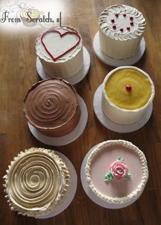 made from scratch mini cakes
