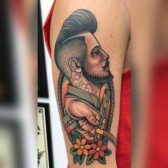 Barber tattoo by @gianniorlandinitattooer at Luxury Tattoo in Grosseto Italy. #barbertattoo #straightrazor #gianniorlandinitattooer #luxurytattoogrosseto #luxurytattoo #grosseto #italy #tattoo #tattoos #tattoosnob