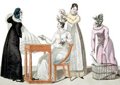 "Chapter 6:  Phoebe goes dress shopping with Meredith & Lady Stanton.  ""For a week, Phoebe had resisted  their combined efforts to order a ball gown for her, but she had finally given in. For the last hour, a very fashionable dressmaker had fussed and measured, poking away at Phoebe until she felt ready to scream."""
