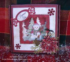 Une boite à bonbons!  Boîte : Boitatou http://lesboitatou.blogspot.ca/  Papier : Imaginisce Christmas Cheer   Poinçon : Martha Stewart  Découpe : Spellbinder Shapeabilities 10 et Marianne Design  Étampe : Bonnidee