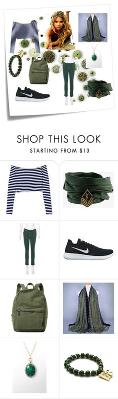 """Organic"" by alexis-kitten on Polyvore featuring Post-It, Yves Saint Laurent, Dsquared2, NIKE and Herschel Supply Co."