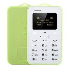AEKU C6 Card Mobile Phone 2G 4.8mm Ultra Thin Pocket Mini Slim Card Phone 0.96 inch QWERTY Keyboard Bluetooth V2.0 Cheap Phone