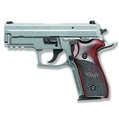 """SIG Sauer P229 Elite Stainless Semi Automatic Handgun 9mm 3.90"""" Barrel 13 Rounds Night Sights Custom Wood Grips Natural Stainless Finish"""
