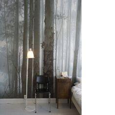 forest Wallpaper Wall, Forest Wallpaper, Bedroom Wallpaper, Nature Wallpaper, Wallpaper Designs, Neutral Wallpaper, Scenic Wallpaper, Landscape Wallpaper, Wallpaper Ideas