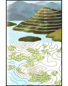 Ladybird series 671 - Understanding Maps - Re-Wilding Earth And Space Science, Earth From Space, 8th Grade Science, Middle School Science, Teaching Geography, Teaching Science, Contour Line, Map Skills, Topographic Map