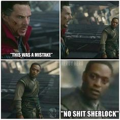 Doctor Strange.. I was waiting for this to happen, leaned over to my friend in the theater after this and said the same thing ;)