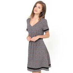 Short-Sleeved Printed Dress MADEMOISELLE R