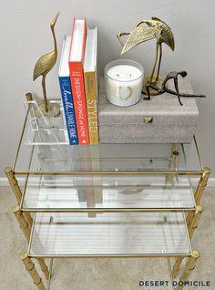 Thrift Score Thursday: Vintage Brass Bamboo Nesting Tables