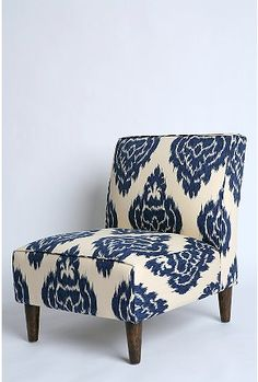 OOhhhh!  Stephanie found this great chair for her Master Bedroom!  UrbOutfit Indigo Ikat Chair