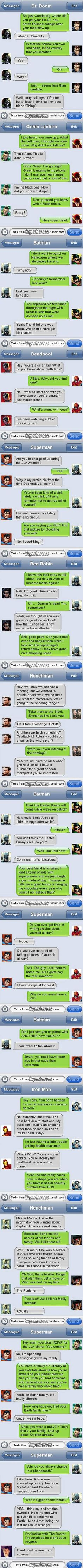 14 Funny and Weird Text Messages from Superheroes - TechEBlog