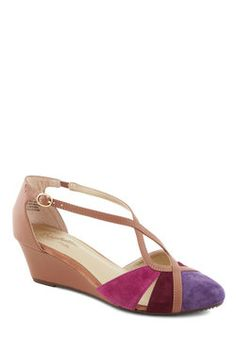 Don't Make Me Brag Wedge in Sunset, #ModCloth