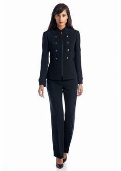 Tahari ASL  Military Pant Suit