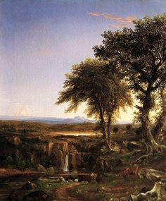 The Voyage of Life: Manhood (detail) by Thomas Cole. Romanticism. landscape